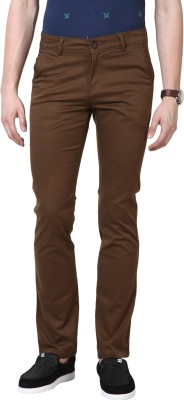 3Concept Slim Fit Men's Brown Trousers