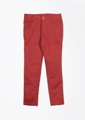 Cherokee Kids Slim Fit Girl's Red Trousers