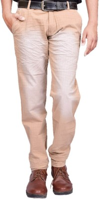 British Terminal Regular Fit Mens Cream Trousers