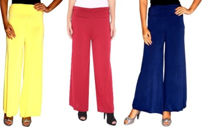 Zadine Regular Fit Women,s Yellow, Red, Dark Blue Trousers