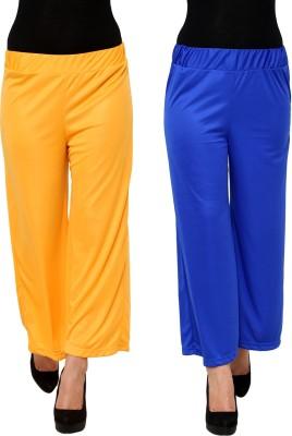 Limeberry Regular Fit Women's Yellow, Blue Trousers