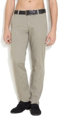 Teej Slim Fit Men's Grey Trousers