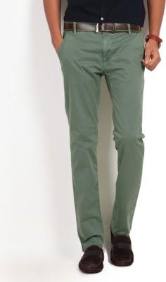 GAS Slim Fit Men's Green Trousers