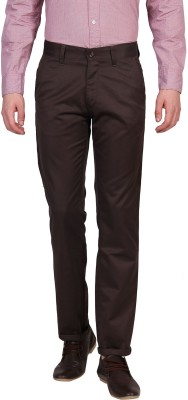Urban Nomad By INMARK Slim Fit Men's Brown Trousers