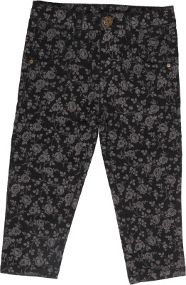 Coffee Bean Regular Fit Girl's Black Trousers