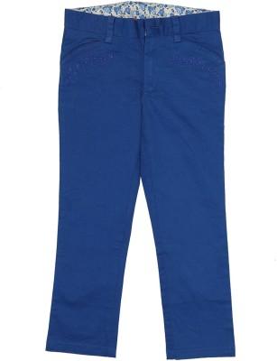 Elle Regular Fit Girl's Blue Trousers