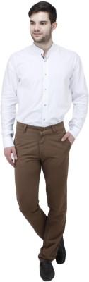 Feels Good Regular Fit Men's Brown Trousers