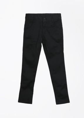 Cherokee Kids Slim Fit Girl's Black Trousers