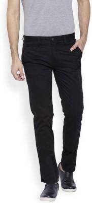 OFFLINE Slim Fit Men's Black Trousers