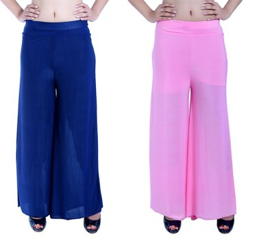 Ajaero Regular Fit Women's Dark Blue, Pink Trousers