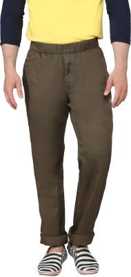 Origin Regular Fit Men's Green Trousers