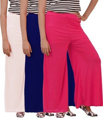 Ace Regular Fit Women's White, Blue, Pink Trousers