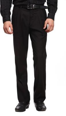 Luxurazi Slim Fit Men,s Black Trousers