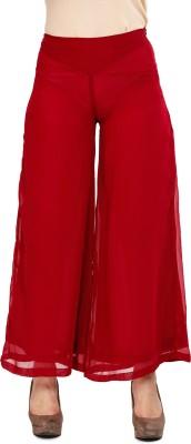 Mustard Regular Fit Women's Maroon Trousers