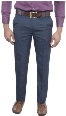 RICH PERK Slim Fit Men's Dark Blue Trousers