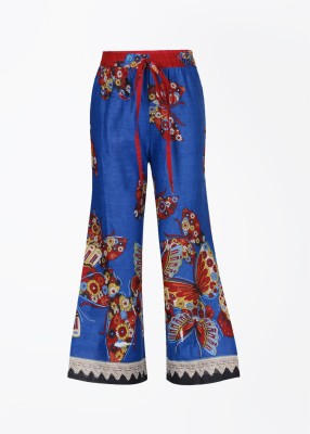 Yo Baby Girls Blue Trousers at flipkart