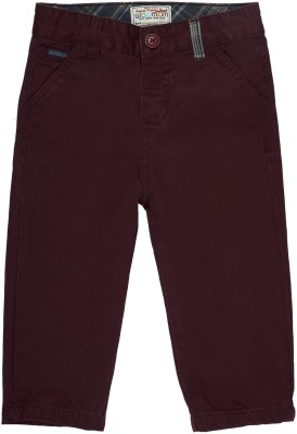 Wow Mom Regular Fit Baby Boy,s Maroon Trousers