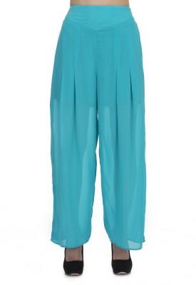 Zaivaa Regular Fit Women's Blue Trousers