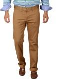Easies Slim Fit Men's Beige Trousers