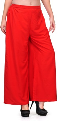 Natty India Regular Fit Women's Red Trousers
