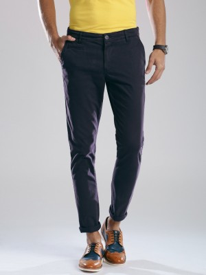 HRX by Hrithik Roshan Regular Fit Men's Purple Trousers