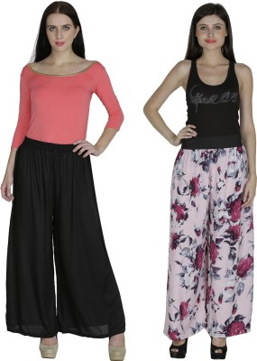 Shopingfever Regular Fit Women's Black, Pink Trousers