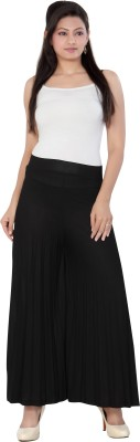 Casam Regular Fit Women's Black Trousers