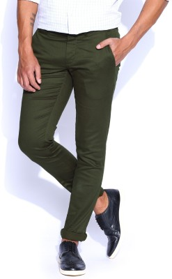 POE Slim Fit Men's Green Trousers