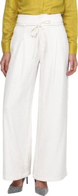 Annapoliss Regular Fit Women's White Trousers