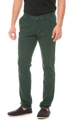 Prym Slim Fit Men's Green Trousers