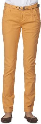 Ixia Slim Fit Women's Orange Trousers