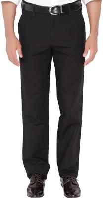 Jadeblue Slim Fit Men's Black Trousers