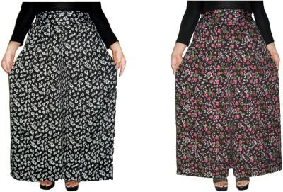 Barbarik Regular Fit Women's Black, Multicolor Trousers
