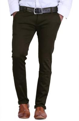AVE Slim Fit Men's Dark Green Trousers