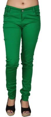 Coaster Skinny Fit Women's Green Trousers