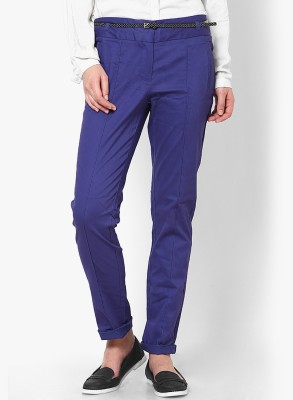 Vero Moda Regular Fit Women's Blue Trousers