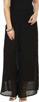 G&M Collections Regular Fit Women's Black Trousers