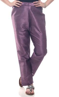 Lyla Regular Fit Women's Purple Trousers