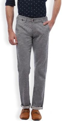 Vintage Slim Fit Men's Grey Trousers