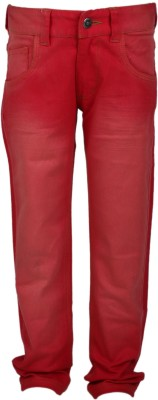 UFO Slim Fit Boy's Red Trousers