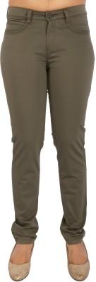 Airwalk Slim Fit Women's Dark Green Trousers