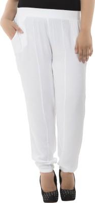 LastInch Regular Fit Women's White Trousers