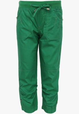 Cool Quotient Regular Fit Girl's Green Trousers