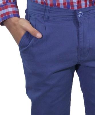 Rollister Slim Fit Men's Blue Trousers