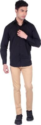 Black Sparrow Slim Fit Men's Linen Beige Trousers