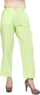 Mustard Regular Fit Women's Green Trousers