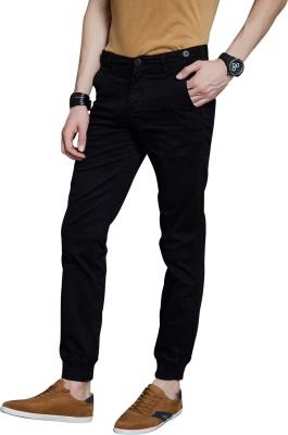 Route 66 Slim Fit Men's Black Trousers