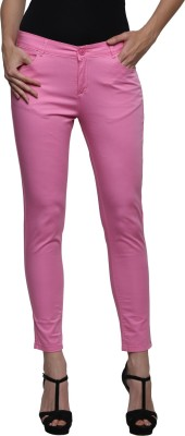 Prakum Skinny Fit Women's Pink Trousers