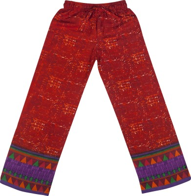 Hunny Bunny Regular Fit Girl's Maroon Trousers
