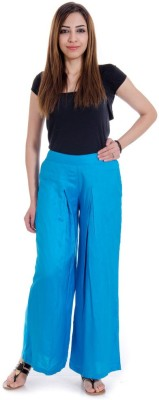 Fille Divin Regular Fit Women's Light Blue Trousers